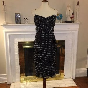 Laundry by Shelli Segal Silk polka dot lined dress